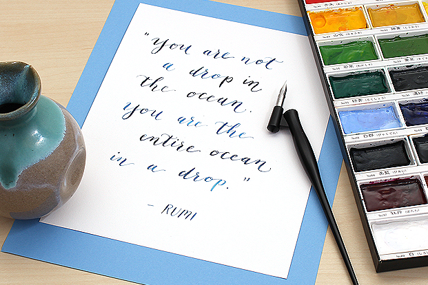 Set off your favorite sayings with harmonizing colors and calligraphy styles.