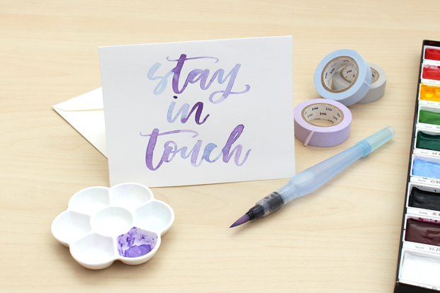 Surprise your friends with handmade cards.