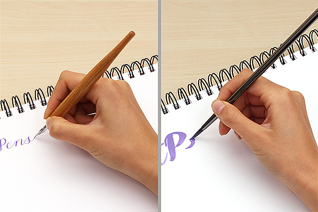 Write normally with the paint.