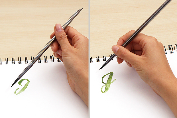 Hold the brush or pen closer to the tip for better control.