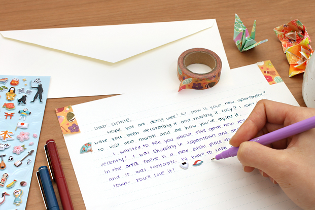 Writing a Letter to a Pen Pal