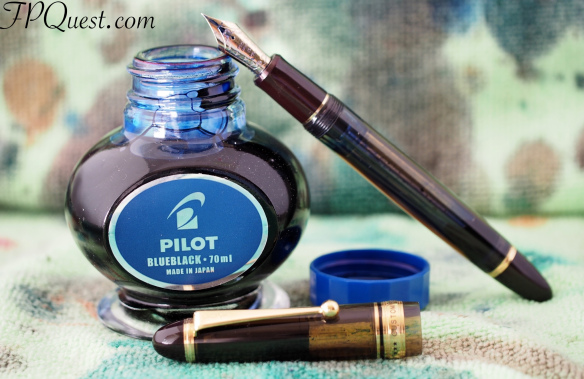 Pilot Custom 823 fine nib with Pilot Blue-Black Ink
