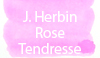 J. Herbin Rose Tendresse