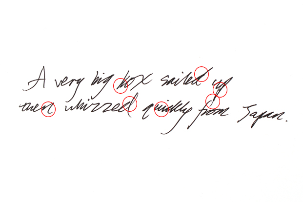 Analyze your handwriting to find out what to work on.