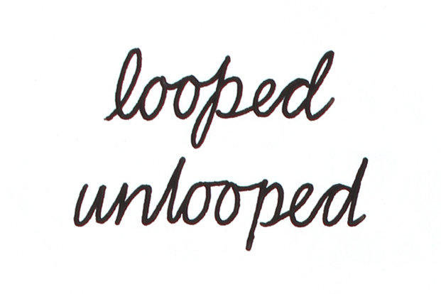 Looped writing makes it harder to recognize letters.