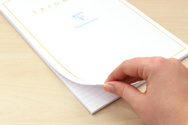 Bright white Clairefontaine Triomphe Notepads are fantastically smooth.