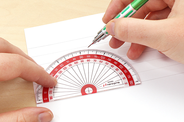 Mark slant lines with a protractor for more effective practice.