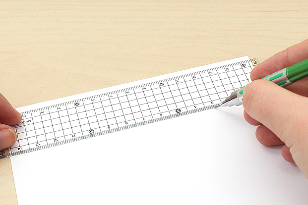 Transparent grid rulers let you make guide sheets more easily.