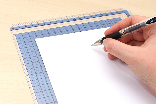 Use a writing board for a softer surface.