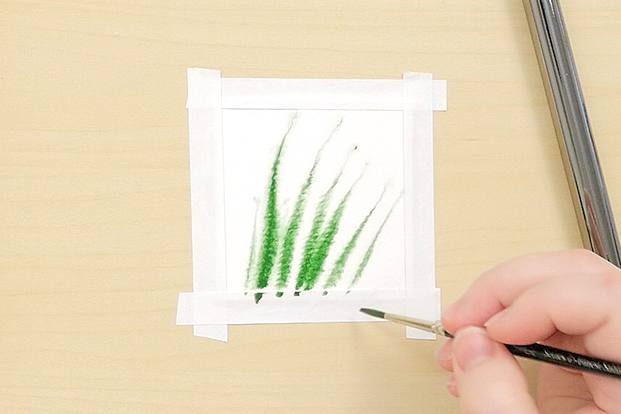 Use thick paint on wet paper.