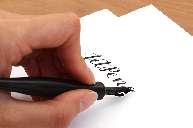 Avoid smudging your work by writing under the line.