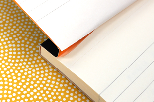 Closely Perforated Notebook Page