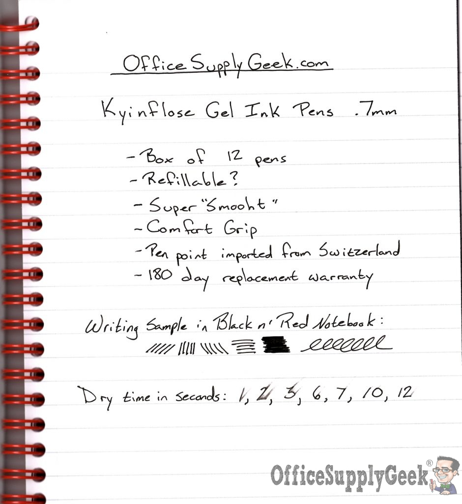 Kyinflose Pen Writing Sample