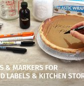 Pens and Markers for Food Labels and Kitchen Storage