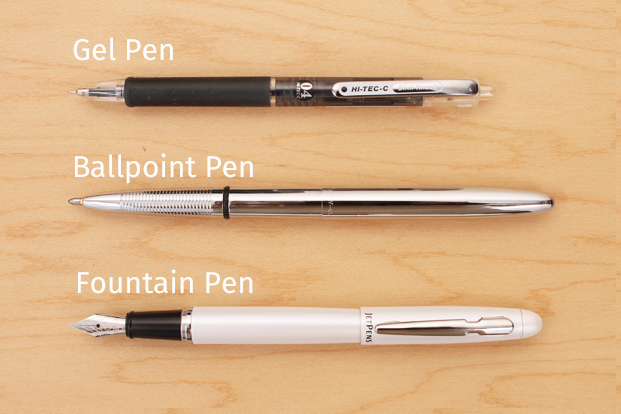 Different types of mini pens
