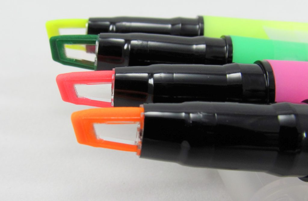Sharpie Clear View Stick Highlighter Tips Lined Up