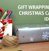 Wrapping gifts and designing Christmas cards