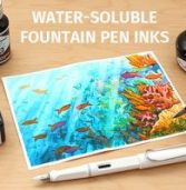 Water-Soluble Fountain Pen Inks Are Gentler On Pens And Safer To Leave In Them For Longer Periods Of Time