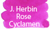 J. Herbin Rose Cyclamen