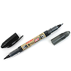 Pilot Futayaku Double-Sided Brush Pen - Fine/Medium - Black